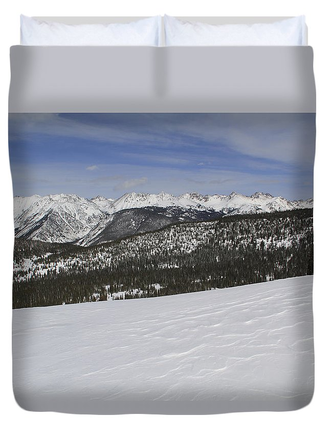 Scenics Duvet Cover featuring the photograph Holy Cross Wilderness Area In Winter by John Kieffer