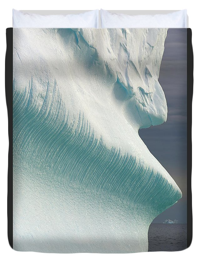 Iceberg Duvet Cover featuring the photograph Iceberg, Grandidier Passage, Antarctic by Eastcott Momatiuk