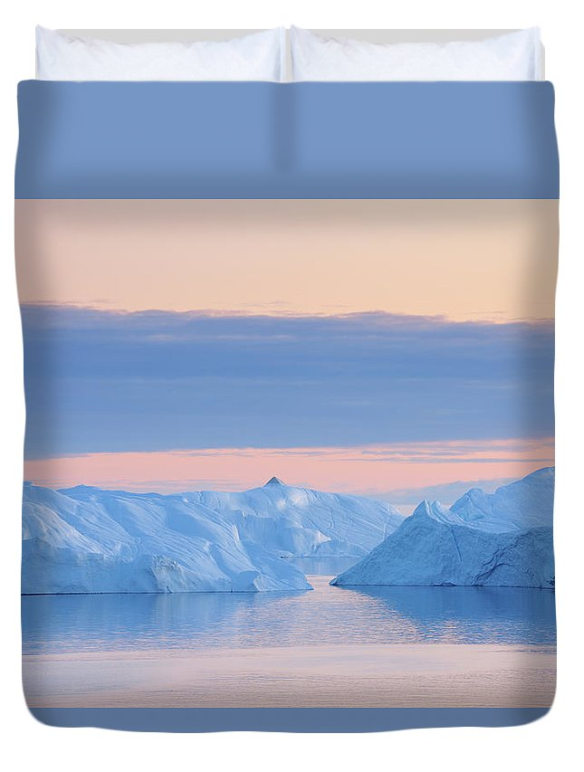 Iceberg Duvet Cover featuring the photograph Iceberg by Raimund Linke