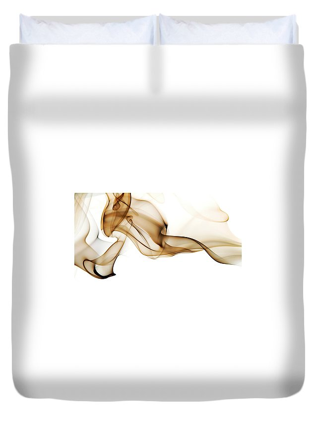 Art Duvet Cover featuring the photograph Image Of High Contrast Smoke Up Against by Guarosh
