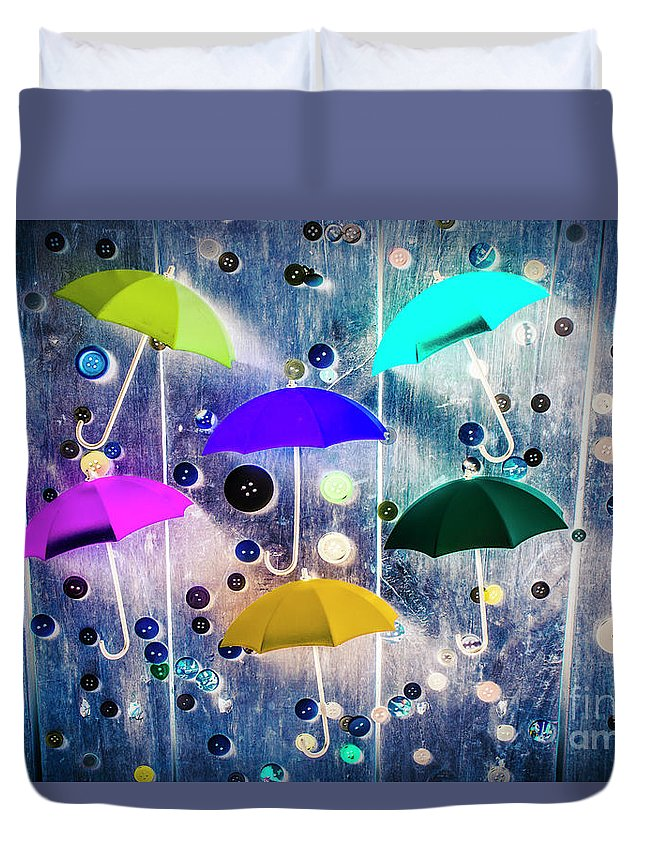 Artwork Duvet Cover featuring the photograph Imagination Raining Wild by Jorgo Photography - Wall Art Gallery