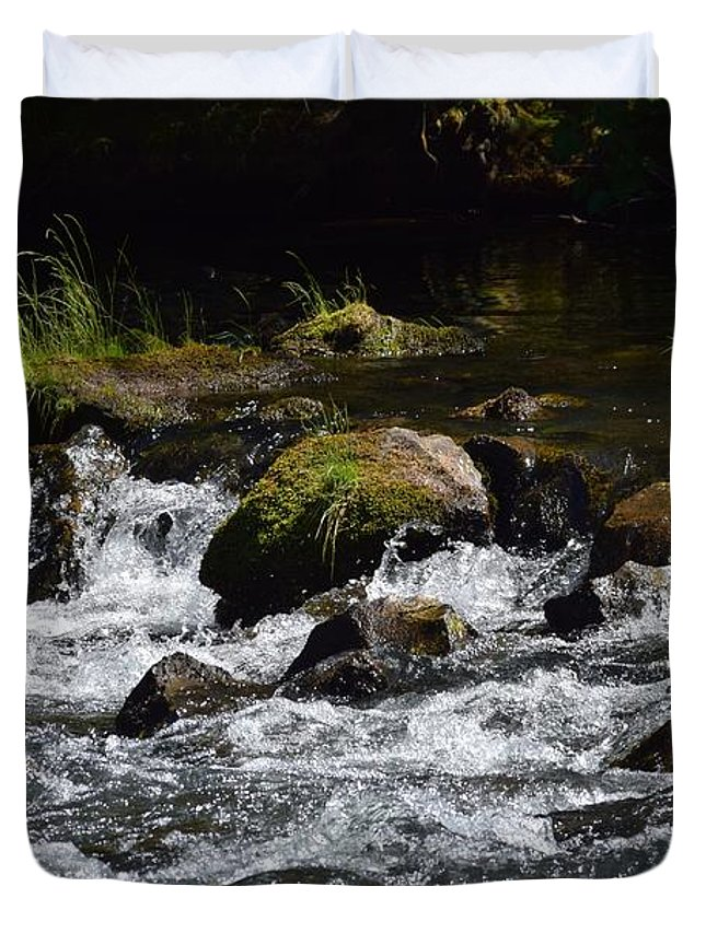 Streams Duvet Cover featuring the photograph In Motion by Lkb Art And Photography
