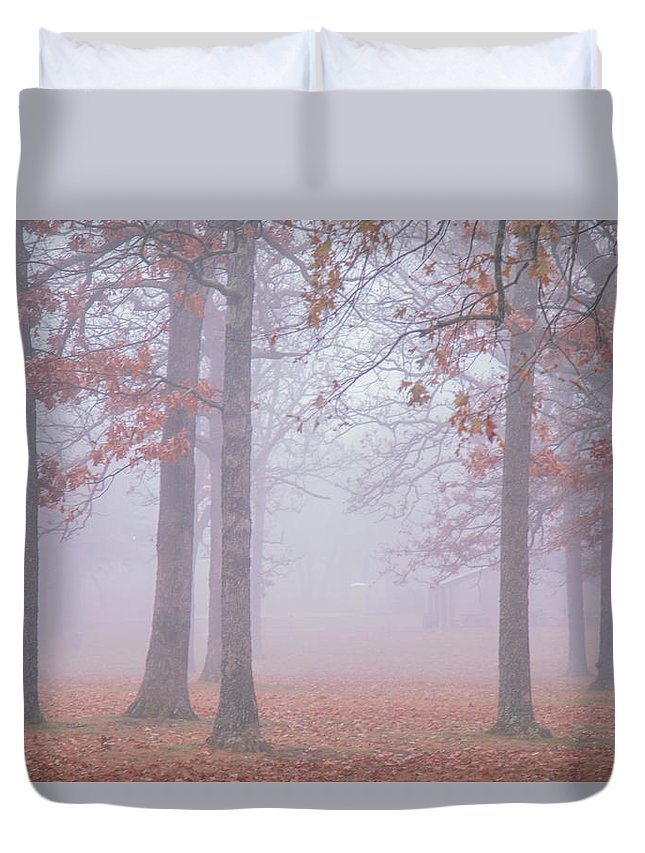 Park Duvet Cover featuring the photograph In The Morning by Hyuntae Kim