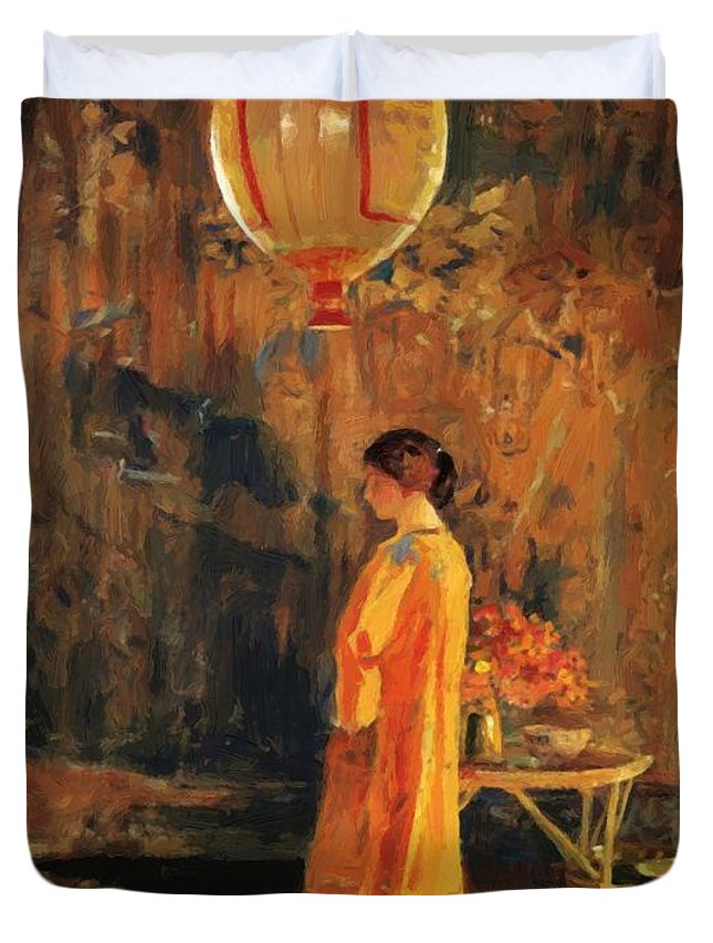 In Duvet Cover featuring the painting In The Studio by Guy Rose