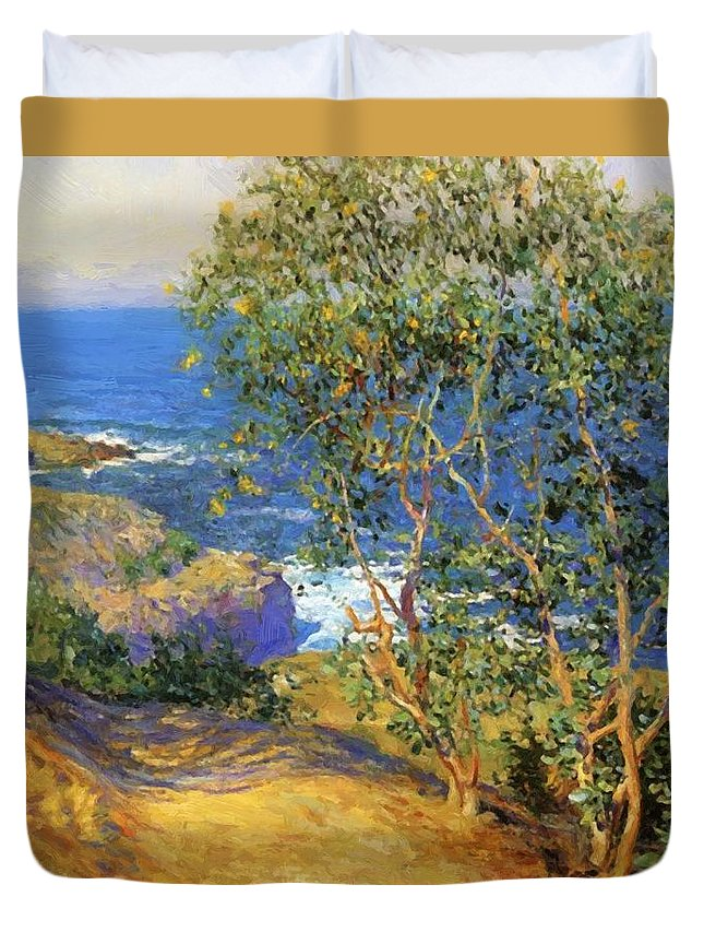 Indian Duvet Cover featuring the painting Indian Tobacco Trees La Jolla 1916 by Guy Rose