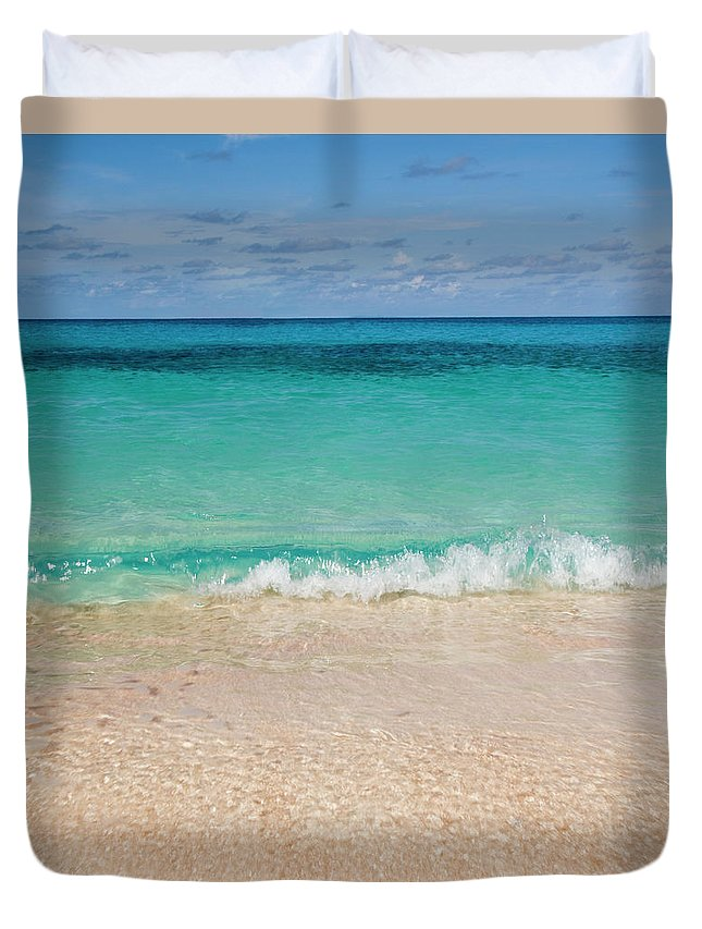 Water's Edge Duvet Cover featuring the photograph Indonesia, Waves Rolling In From Indian by Joe Mcbride