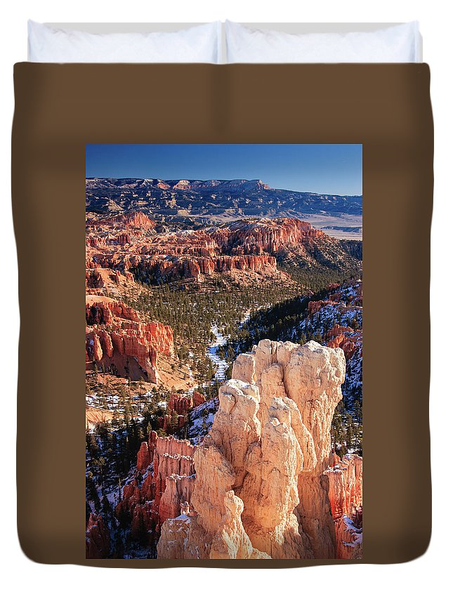 Tranquility Duvet Cover featuring the photograph Inspirational by Daniel Cummins