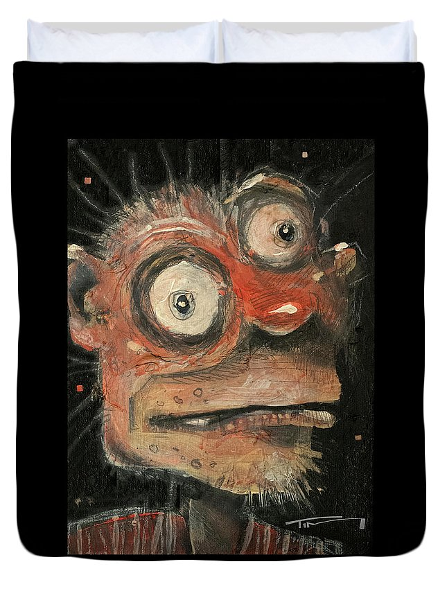 Man Duvet Cover featuring the painting Irwin by Tim Nyberg