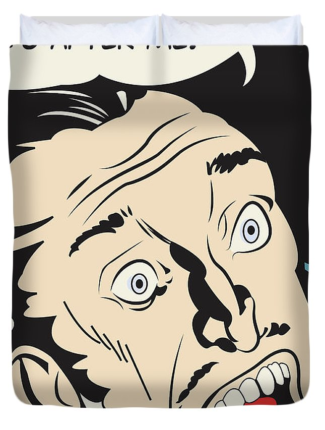 Scary Duvet Cover featuring the digital art It Is The Artist by Long Shot