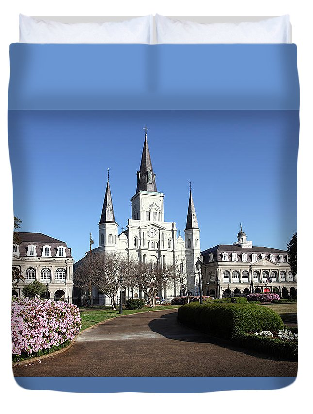 Southern Usa Duvet Cover featuring the photograph Jackson Square New Orleans by Denistangneyjr
