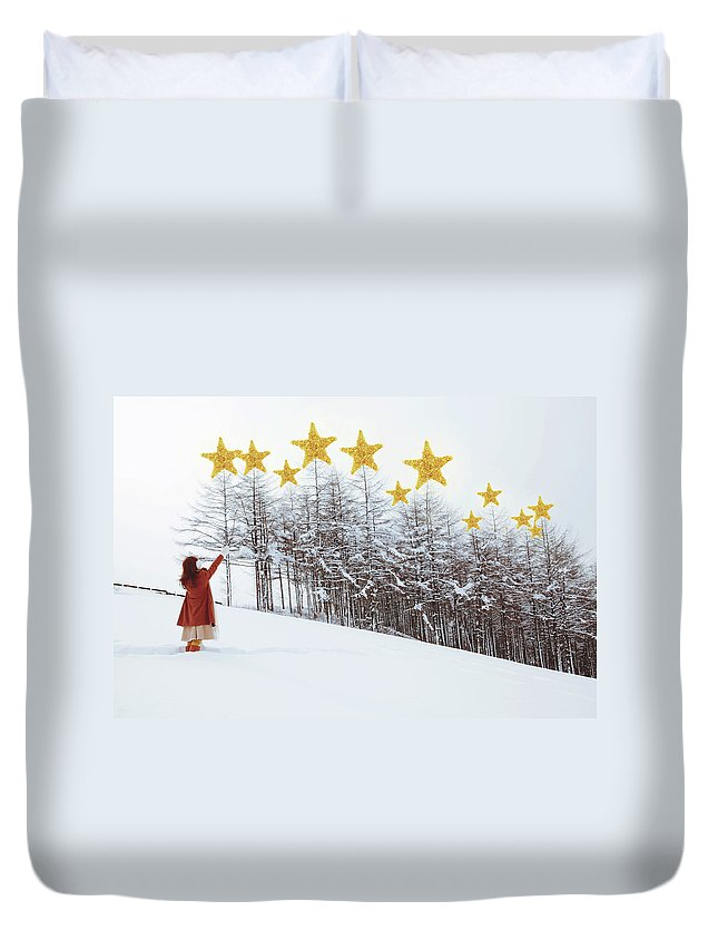 Hand Raised Duvet Cover featuring the photograph Jesus, Lord, At Thy Birth by Copyright Alpsrabbit* All Rights Reserved