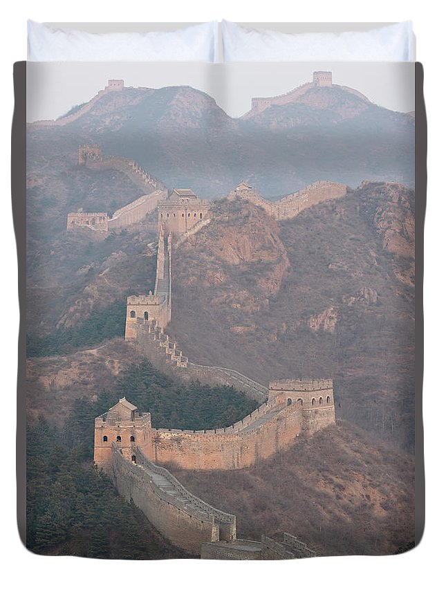 Chinese Culture Duvet Cover featuring the photograph Jinshanling Section, Great Wall Of China by Thomas Kokta