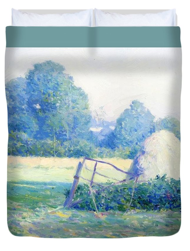 July Duvet Cover featuring the painting July Afternoon by Guy Rose