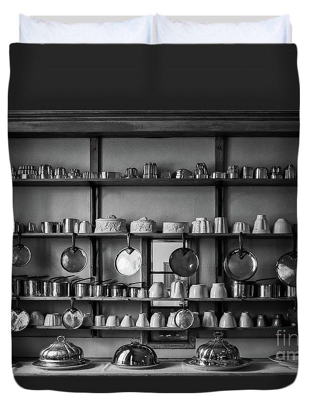 Hanging Duvet Cover featuring the photograph Kitchen Accessories, Saffron Walden by Helen Hooker
