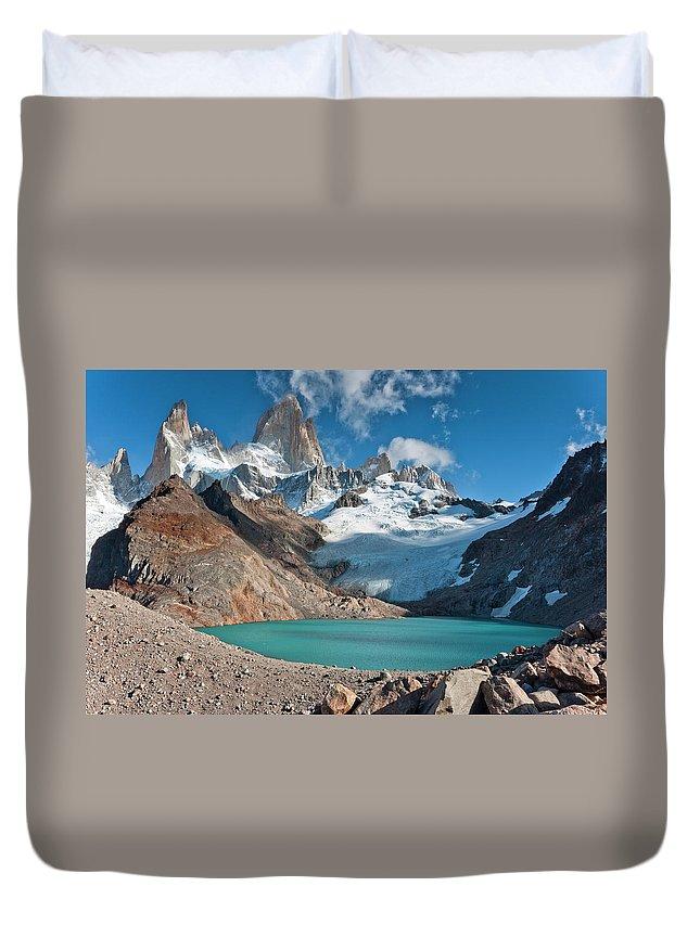 Scenics Duvet Cover featuring the photograph Laguna De Los Tres, El Chalten by Avinash Achar