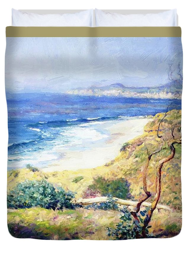 Laguna Duvet Cover featuring the painting Laguna Shores 1916 by Guy Rose