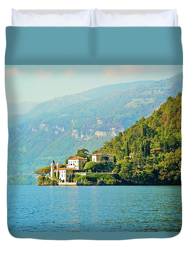 Scenics Duvet Cover featuring the photograph Lake Como Scenic by Anouchka