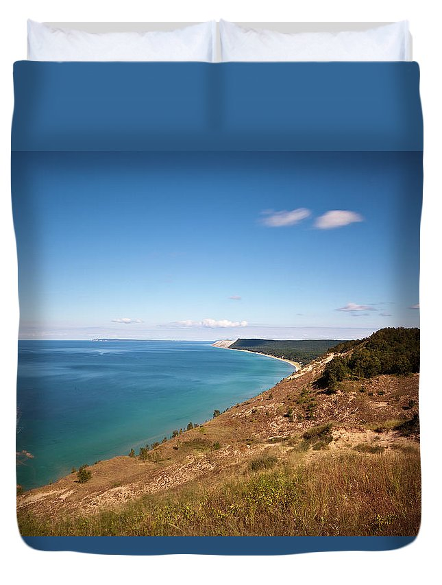 Lake Michigan Duvet Cover featuring the photograph Lake Michigan by Rudy Malmquist