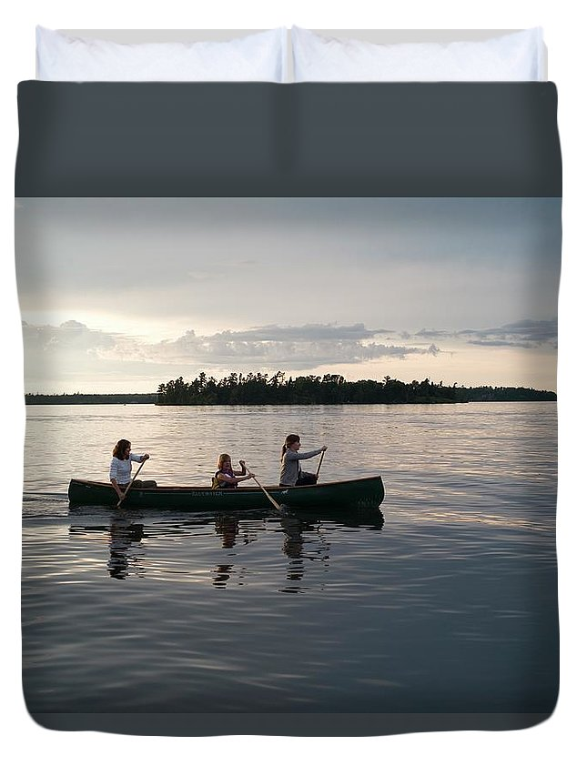 Tranquility Duvet Cover featuring the photograph Lake Of The Woods, Ontario, Canada by Design Pics/keith Levit