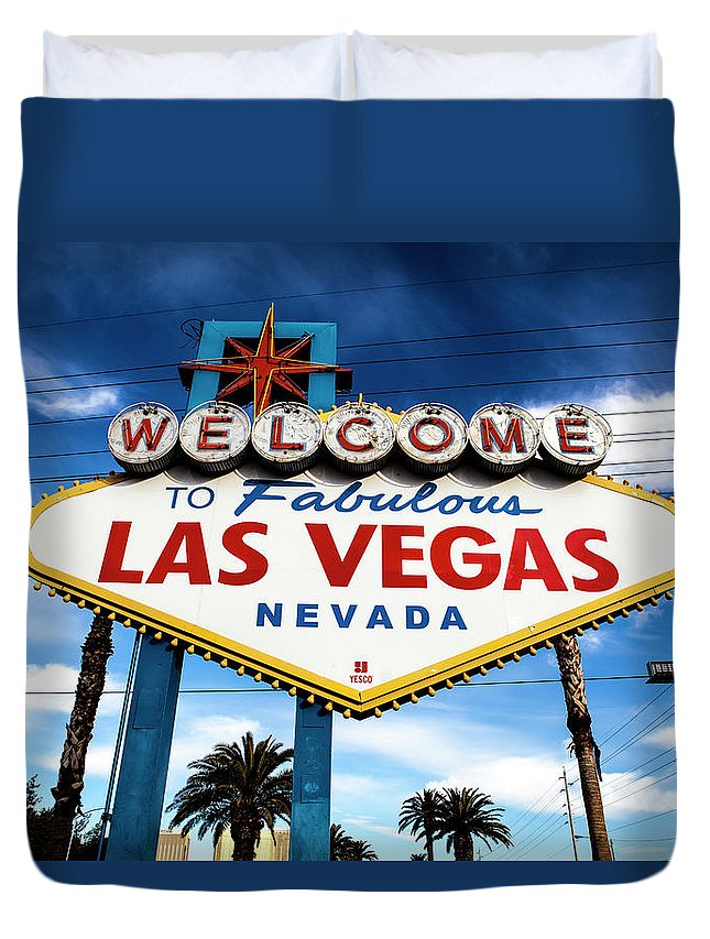 Outdoors Duvet Cover featuring the photograph Las Vegas by Aluma Images