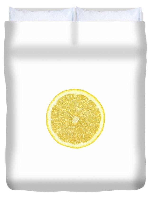 Limon Province Duvet Cover featuring the photograph Lemon by Suzifoo