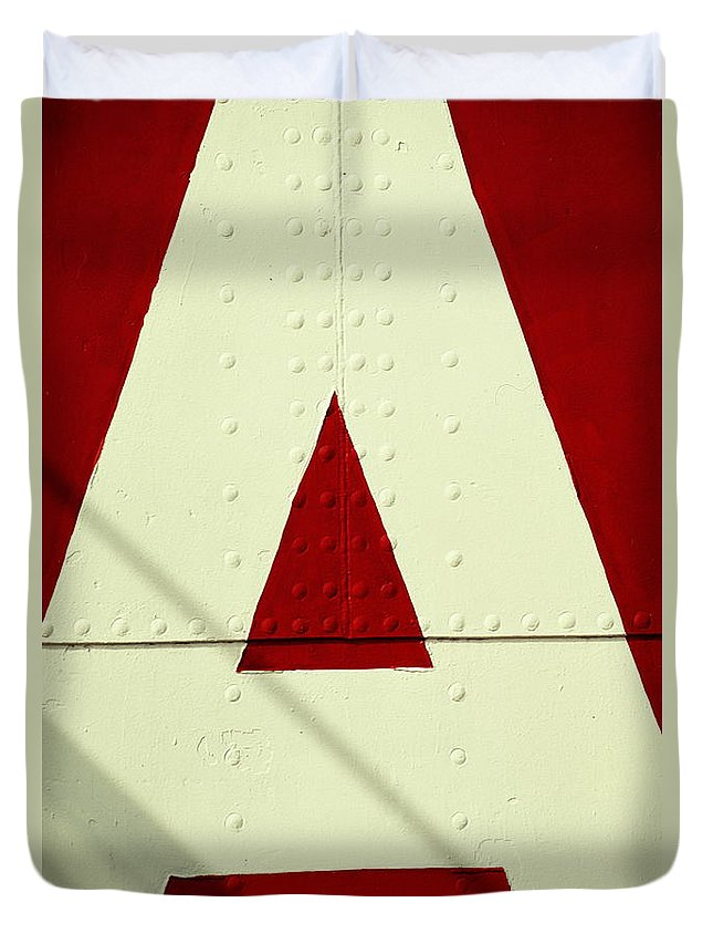 Baltimore Duvet Cover featuring the photograph Letters On Lightship, Detail by Harvey Lloyd