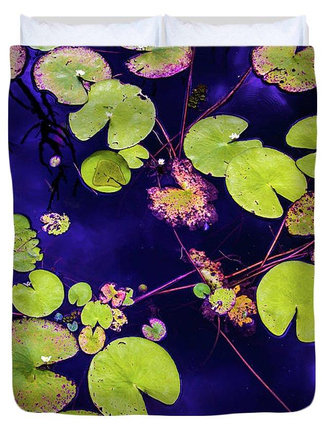 Nature Photography Duvet Cover featuring the photograph Little Pac Mans by Az Jackson