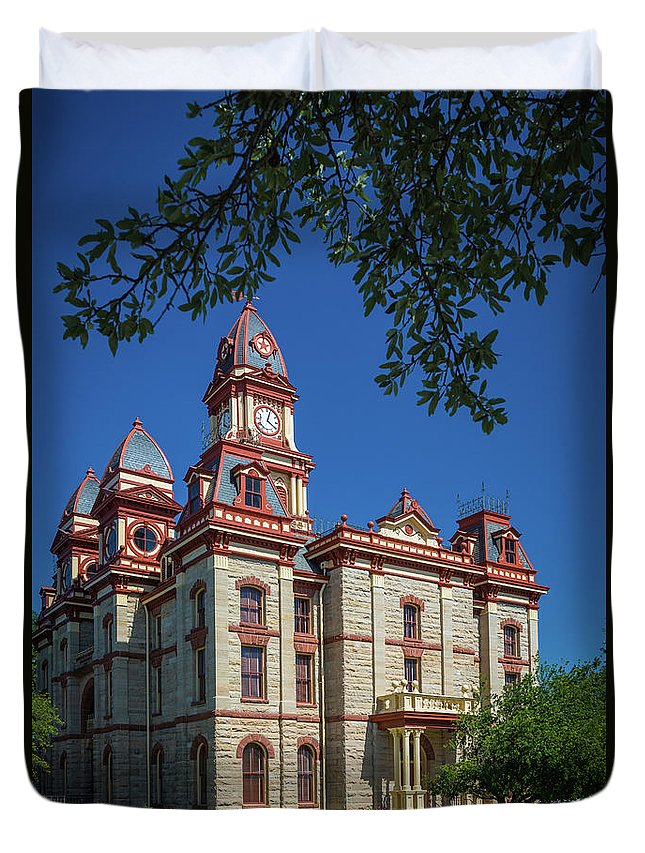 America Duvet Cover featuring the photograph Lockhart Courthouse by Inge Johnsson