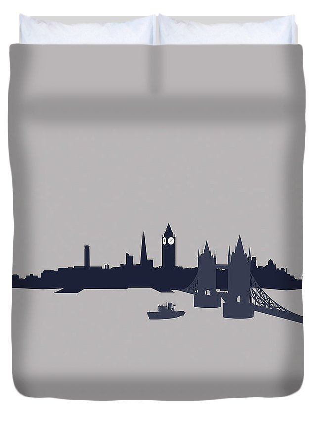 Part Of A Series Duvet Cover featuring the digital art London, Great Britain by Ralf Hiemisch