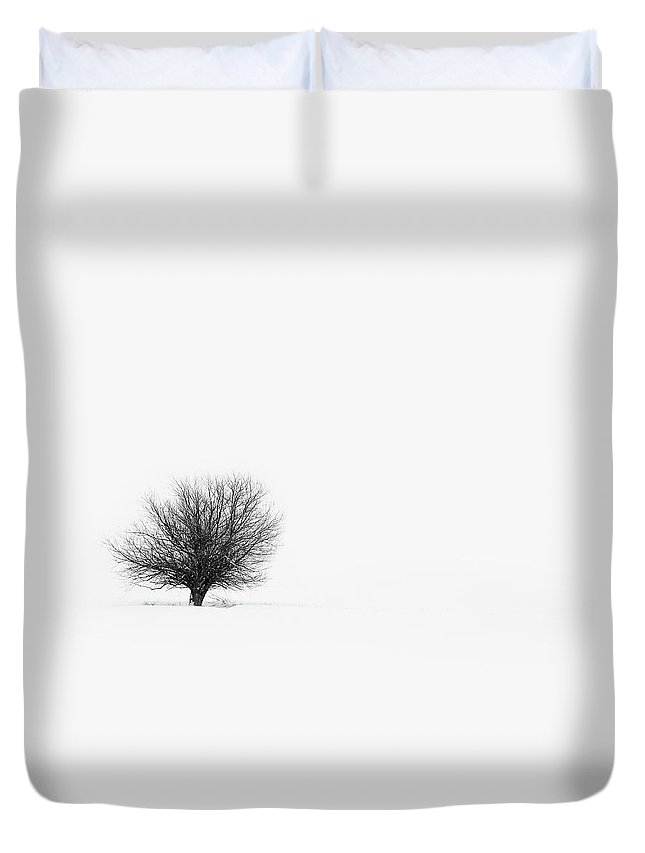 Tranquility Duvet Cover featuring the photograph Lone Tree by Jrj-photo