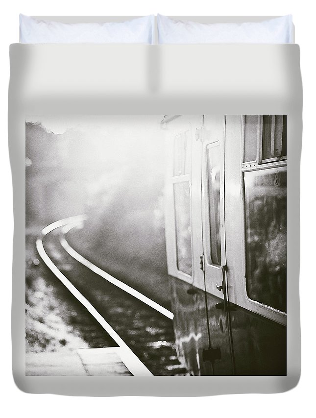 Train Duvet Cover featuring the photograph Long Train Running by James Homer