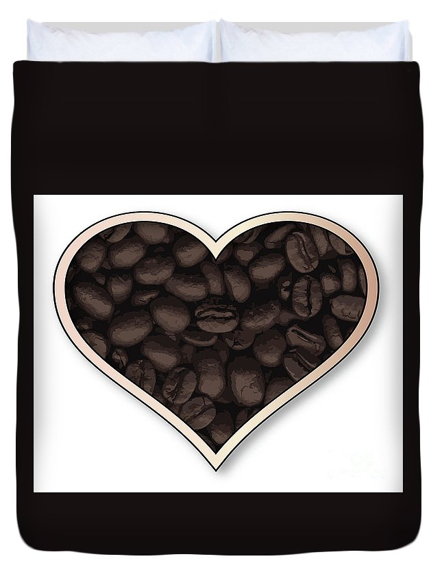 Love Duvet Cover featuring the digital art Love Coffee by Bigalbaloo Stock