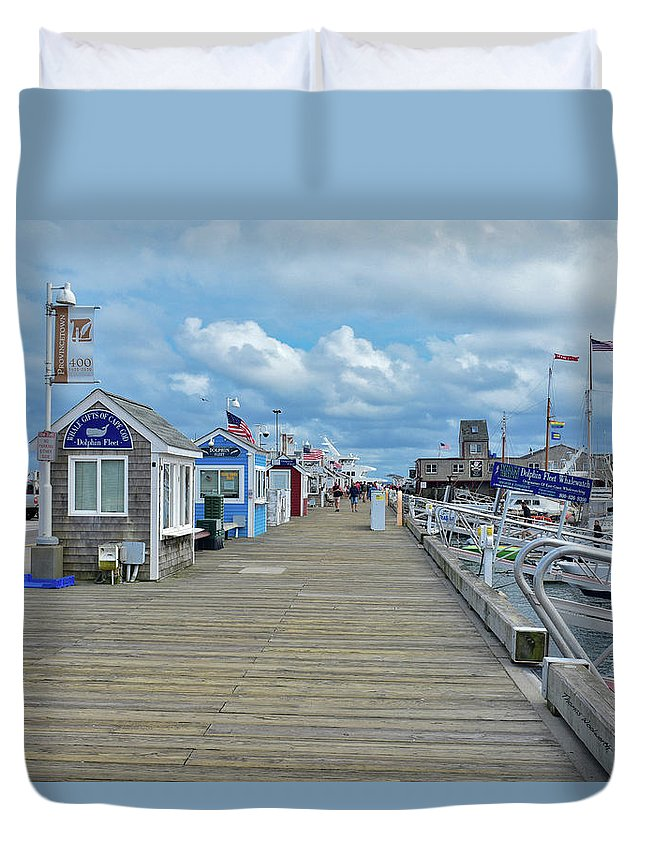 Provincetown Duvet Cover featuring the photograph Macmillan Pier Provincetown Cape Cod Massachusetts 01 by Thomas Woolworth