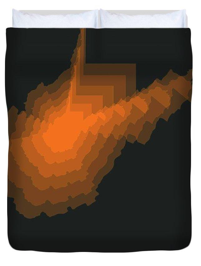 West Virginia Duvet Cover featuring the digital art Map Of West Virginia 2 by Naxart Studio