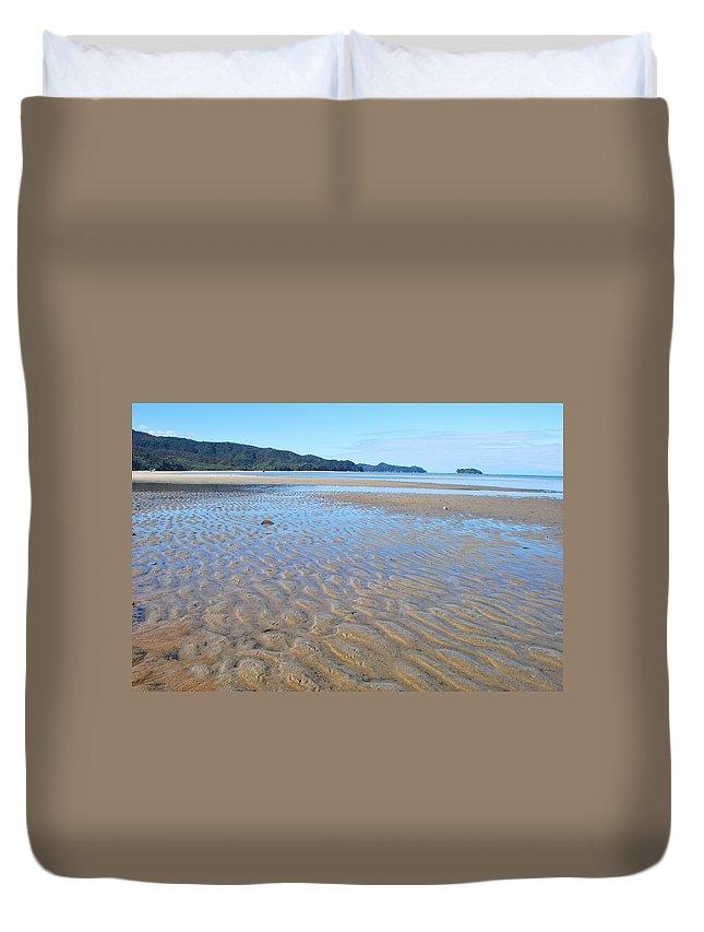 Scenics Duvet Cover featuring the photograph Marahau Beach, The Abel Tasman National by Lazingbee