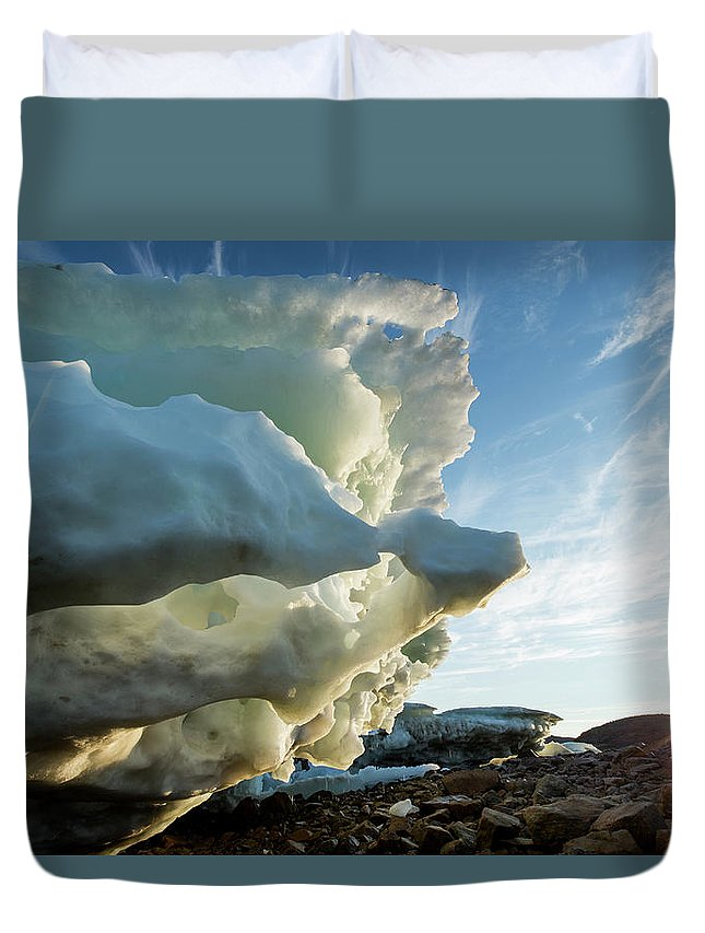 Scenics Duvet Cover featuring the photograph Melting Iceberg, Nunavut Territory by Paul Souders