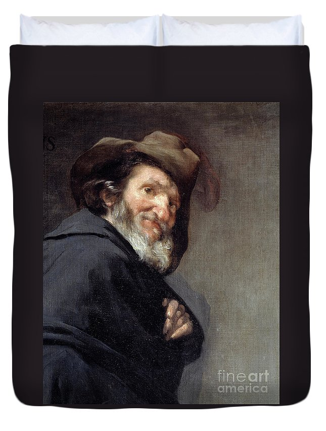 Menippus Duvet Cover featuring the painting Menippus, Greek Poet And Philosopher Of The Cynical School by Diego Rodriguez De Silva Y Velazquez