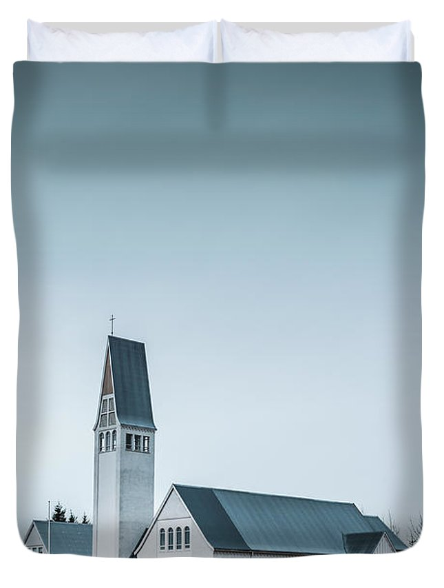 Kremsdorf Duvet Cover featuring the photograph Mercy Is Song by Evelina Kremsdorf
