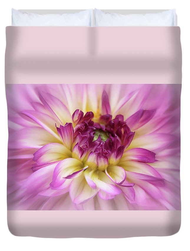 Dahlia Duvet Cover featuring the photograph Dahlia Detail by Jessica Jenney