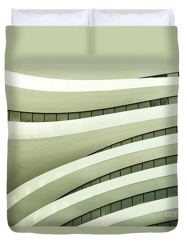 Arch Duvet Cover featuring the photograph Modern Architecture by Phototalk