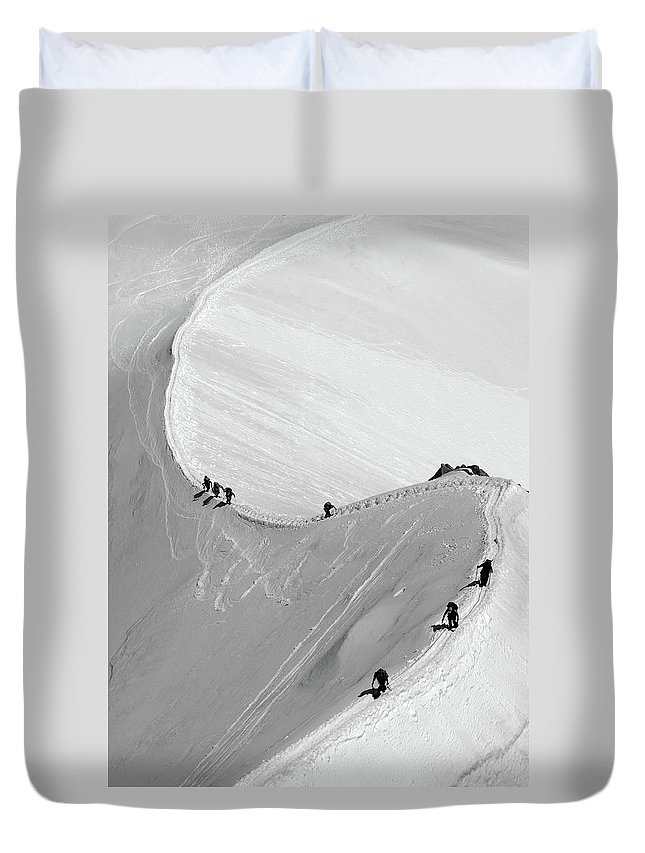 Scenics Duvet Cover featuring the photograph Mont Blanc by Yanis Ourabah