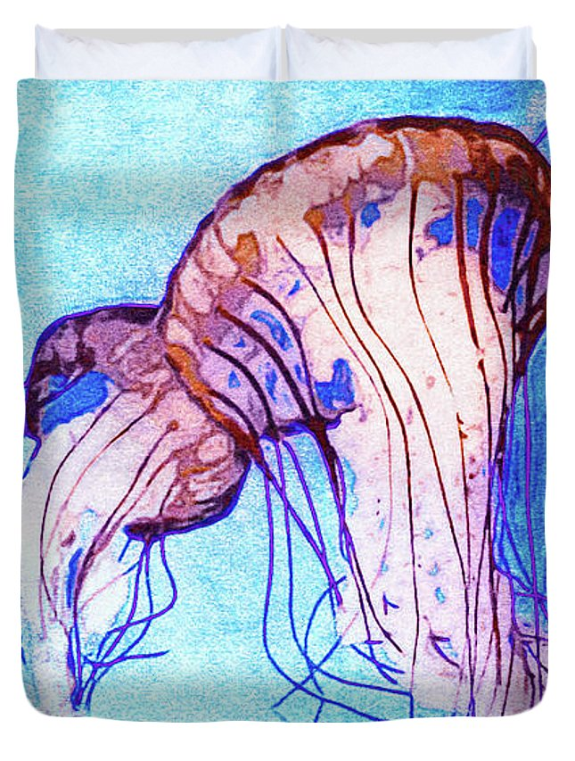 Monterey Bay Aquarium Mixed Media Duvet Covers
