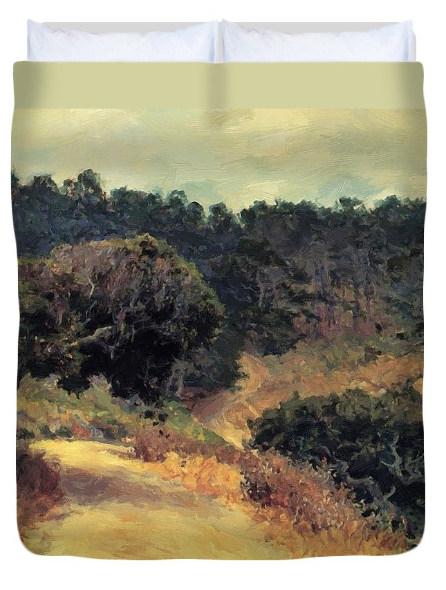 Monterey Duvet Cover featuring the painting Monterey Forest 1919 by Guy Rose