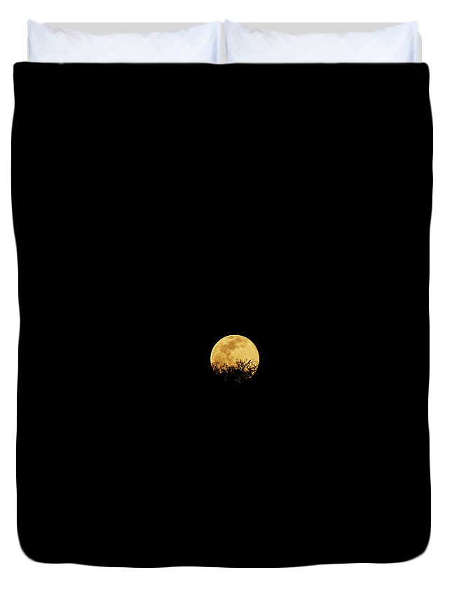 Horror Duvet Cover featuring the photograph Moon Rise by Rollingearth