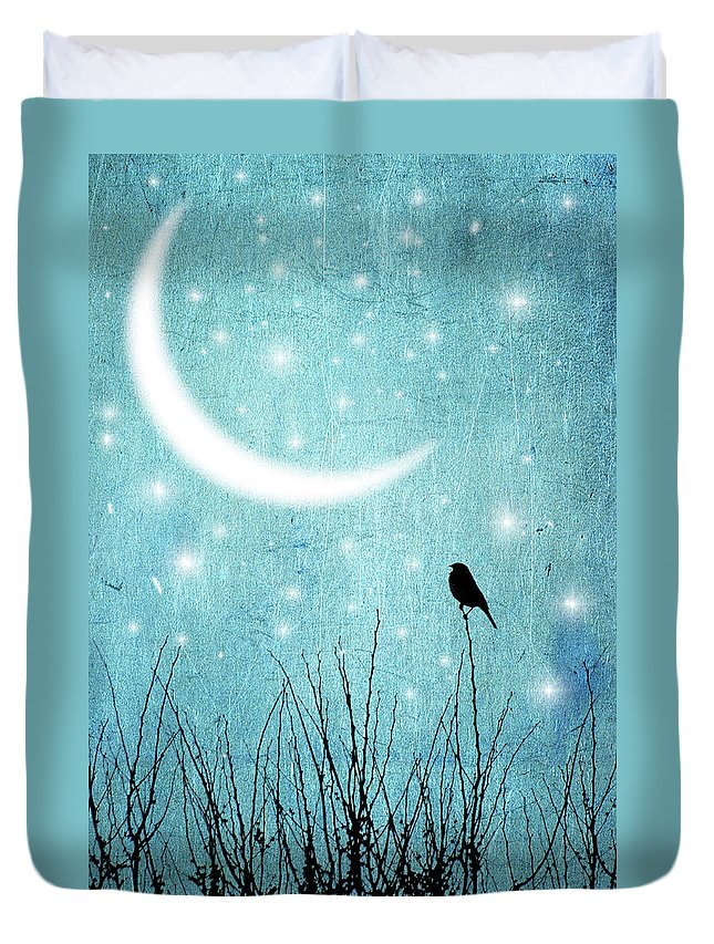 Animal Themes Duvet Cover featuring the photograph Moonlight Sonata by Marta Nardini