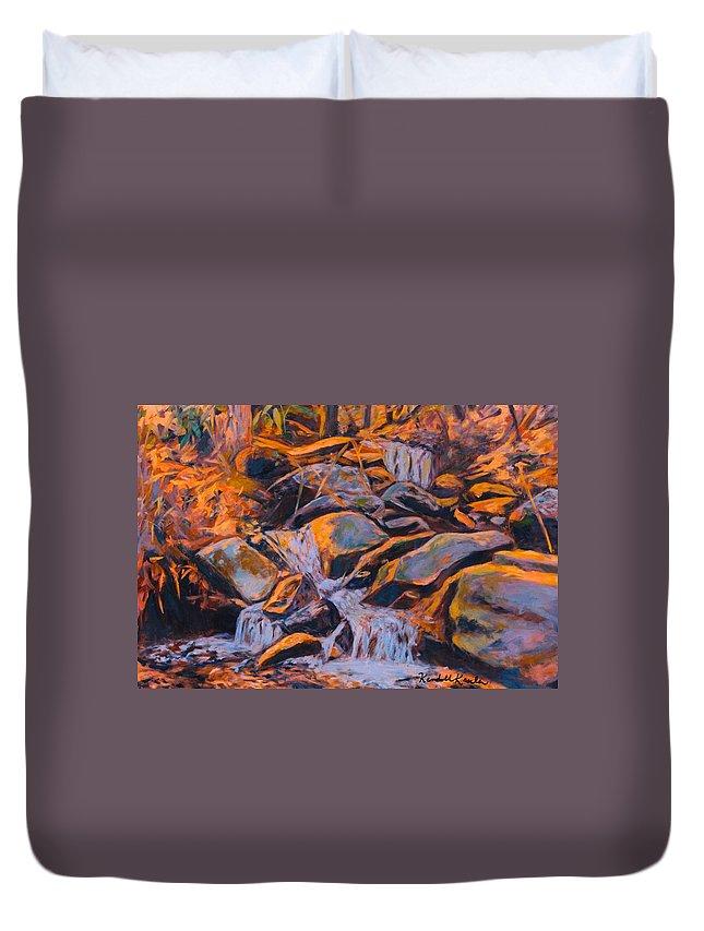 Rocks Duvet Cover featuring the painting Morning Light by Kendall Kessler