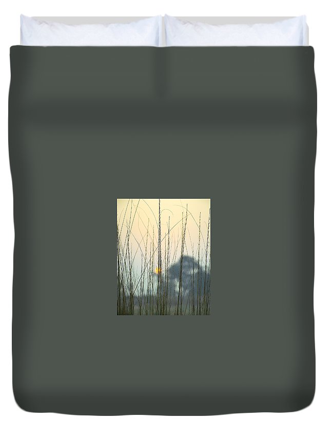 Landscape Duvet Cover featuring the photograph morning Star by Ravi Bhardwaj