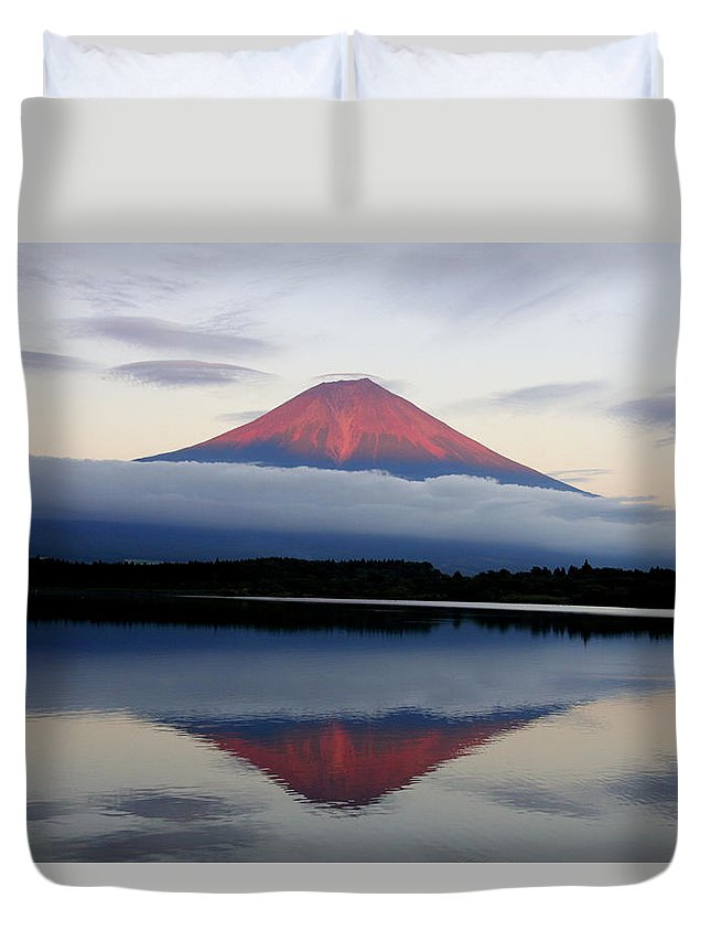 Scenics Duvet Cover featuring the photograph Mount Fuji by Japan From My Eyes