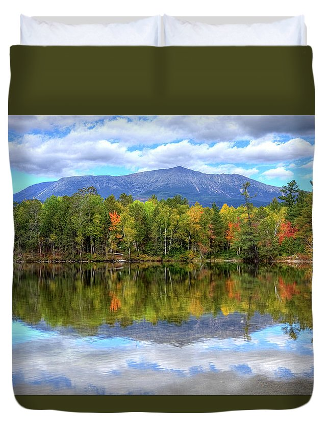 Scenics Duvet Cover featuring the photograph Mount Katahdin by Denistangneyjr