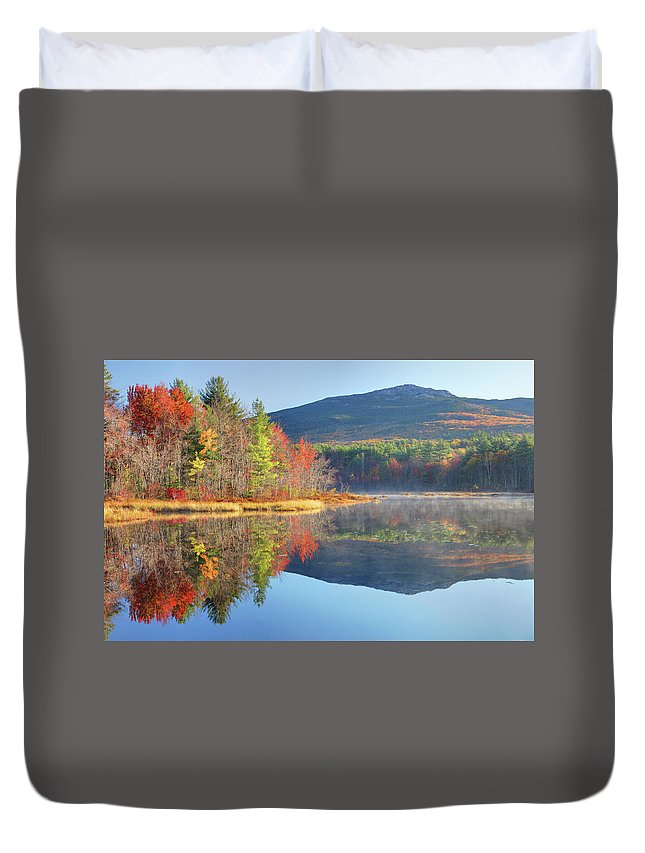 Scenics Duvet Cover featuring the photograph Mount Monadnock In Autumn by Denistangneyjr